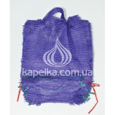 Сетка овощная 21 см * 31 см (до 3кг) фиолетовая, с ручкой