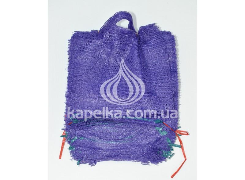 Сетка овощная 30 см * 47 см (до 10кг) фиолетовая, с ручкой