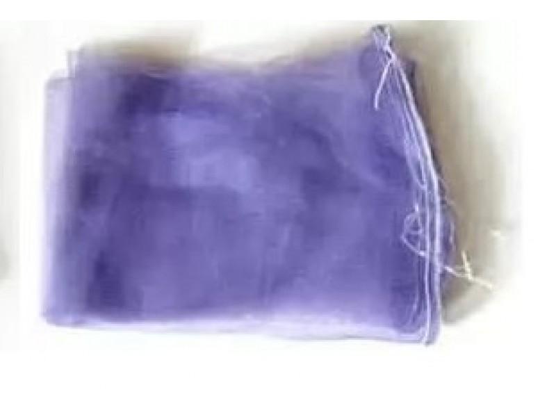 Сетка овощная до 10кг (30см*55см) с мелкой ячейкой 2мм фиолетовая, с завязкой