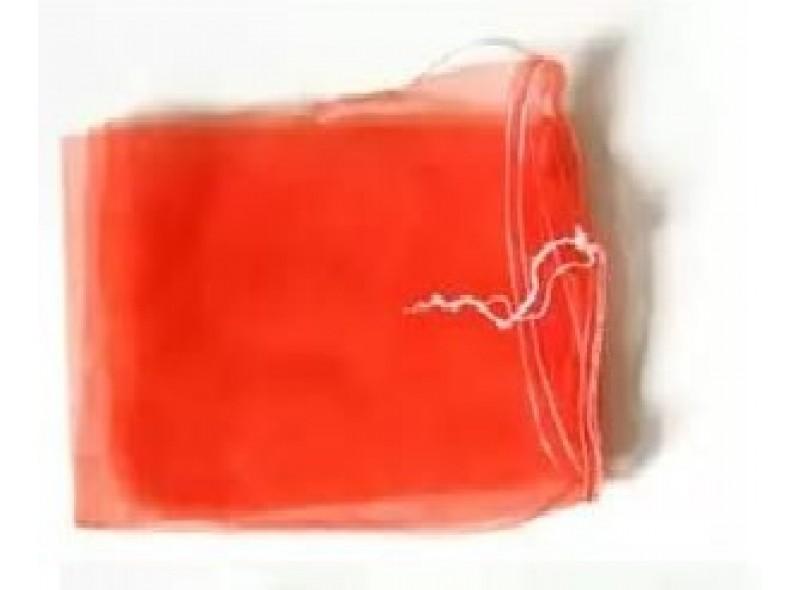 Сетка овощная до 10кг (30см*55см) с мелкой ячейкой 2мм, красная, с завязкой
