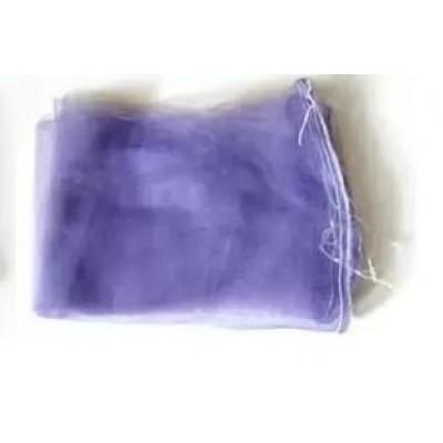 Сетка овощная до 2кг (20см*33см) с мелкой ячейкой 2мм, фиолетовая, с завязкой
