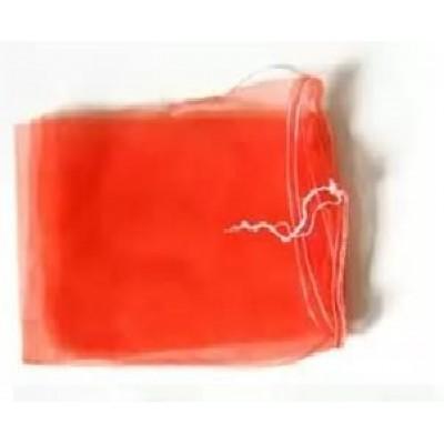 Сетка овощная до 2кг (20см*33см) с мелкой ячейкой 2мм, красная, с завязкой