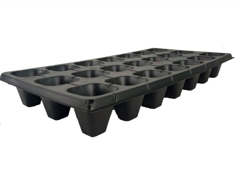 Кассета для рассады на 21 ячейка (21Q), размер: 54х28см, толщ.стенки 0,7мм
