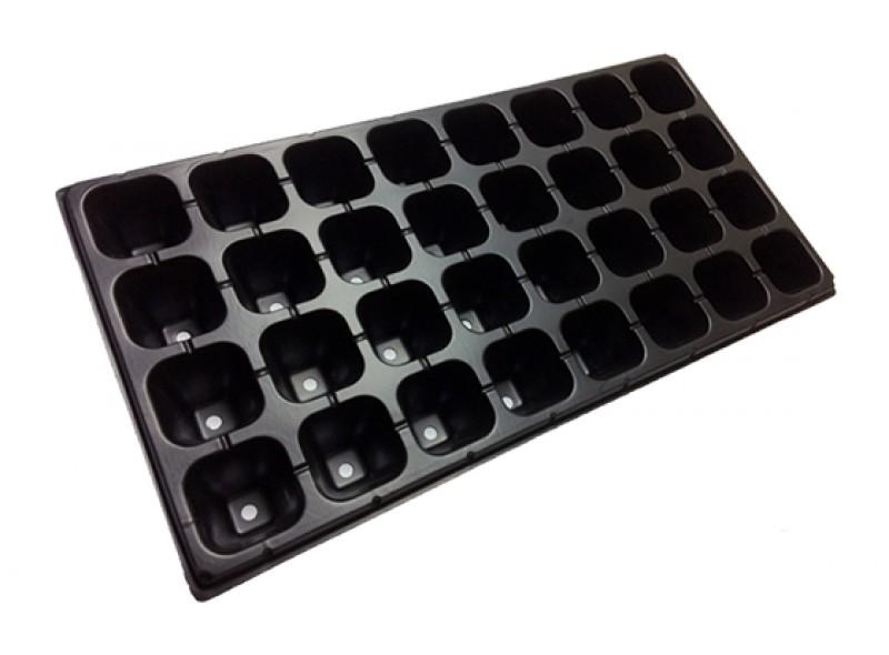 Кассета для рассады на 32 ячейки (32Q), размер: 54х28см, толщ.стенки 0,7мм